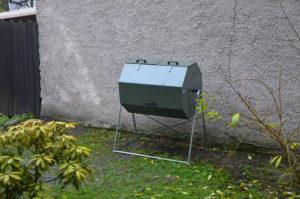 rotačný kompostér na Štefánikovom námestí